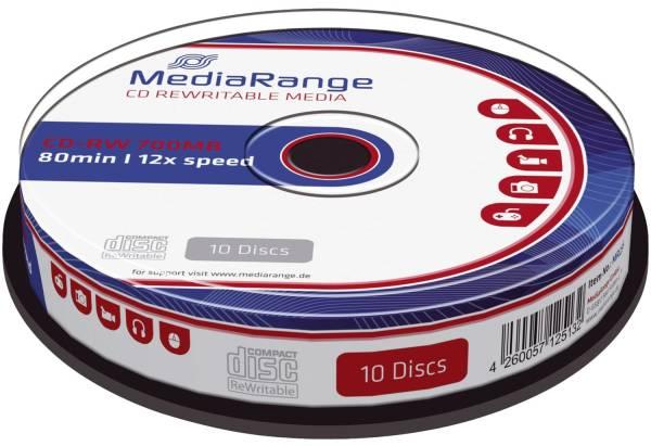 MEDIARANGE CD-RW 10erSpinde MR235 700Mb80min