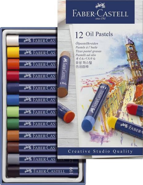 Creative Studio Ölpastellkreide, 12 Farben sortiert im Kartonetui