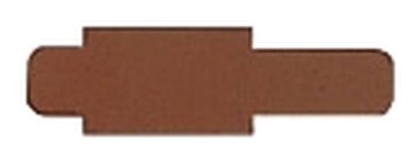 6030 Stecksignal, Hartfolie, 50 Stück, braun