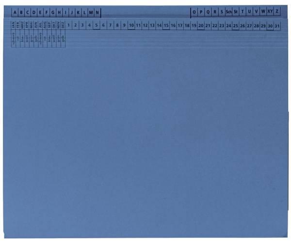 Q-CONNECT Hängehefter Rechts/Links blau KF15805 9040150