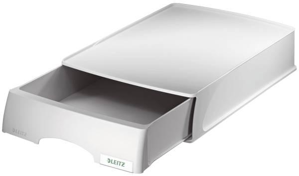 5210 Briefkorb Plus mit Schublade, A4 quer, Polystyrol, grau