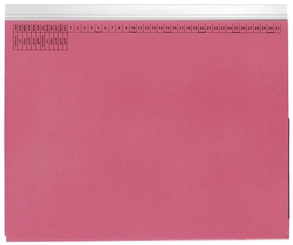 Kanzleihefter A gefalzt Linksheftung (Behördenheftung), 1 Tasche, 1 Abheftvorrichtung, rot