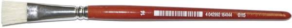 Borstenpinsel Größe 02 rot