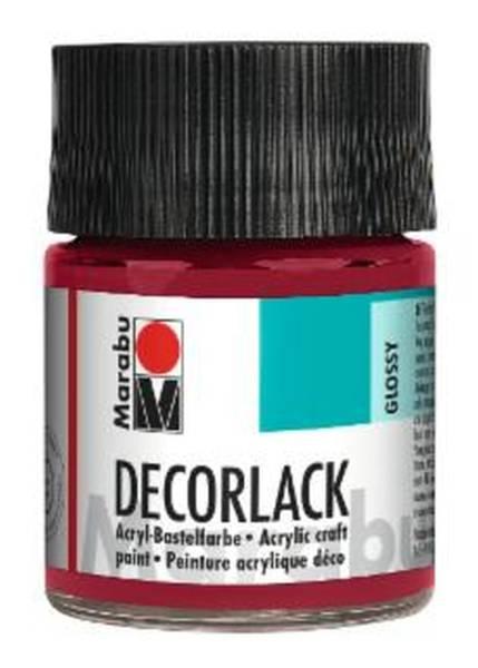 Decorlack Acryl, Karminrot 032, 50 ml