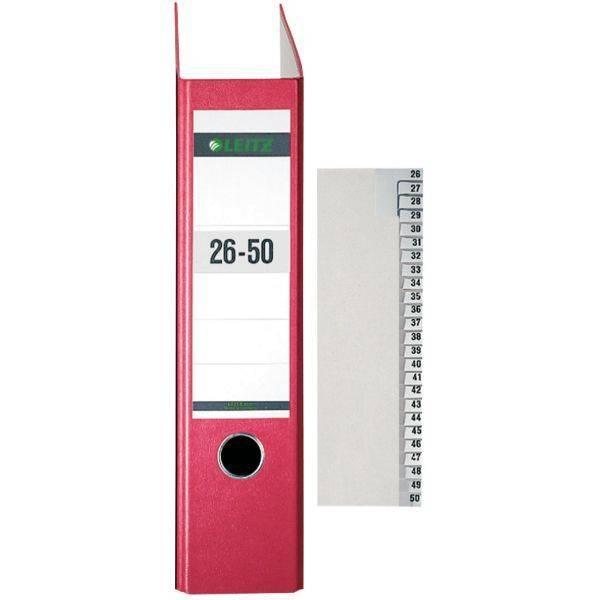 LEITZ Registerserie A4 26-50 grau 1382-00-85 Papier 25tlg.