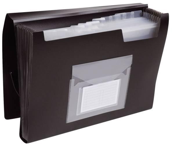 Q-CONNECT Fächertasche schwarz KF01276 13 teilig