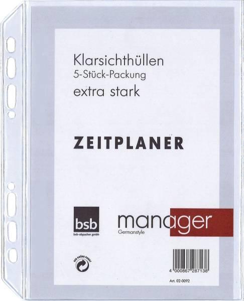 """Ersatzhülle """"Manager"""" A5, 5er Pack, extra stark"""