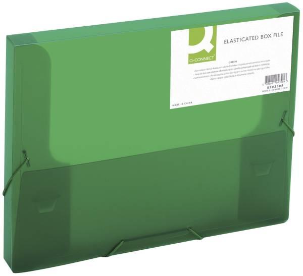 Q-CONNECT Heftbox A4 transluz grün KF02308 25mm