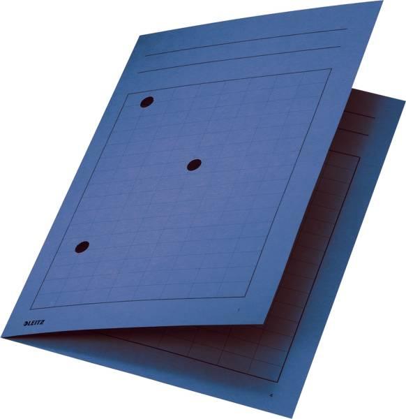 3998 Umlaufmappe, A4, Gitterdruck, Manilakarton 320 g qm, blau