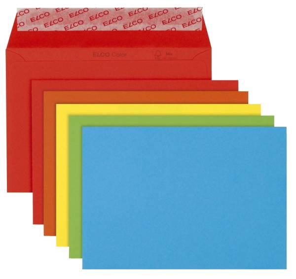 Briefumschlag Color C6, Kleinpackung 20 Stück, 5 Farben sortiert, haftklebend