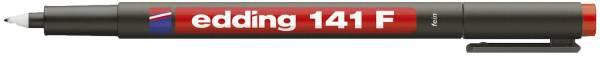 EDDING Folienstift 141F rot 4-141-002 permanent