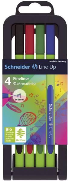 Fineliner Line Up 0,4 mm, 4 Stück, sortiert
