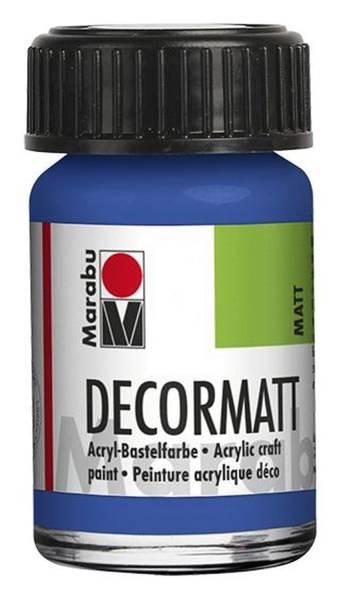 Decormatt Acryl, Mittelblau 052, 15 ml