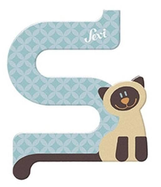 TRUDI Tierbuchstaben 10cm Siamkatze SEVI 83019/81619
