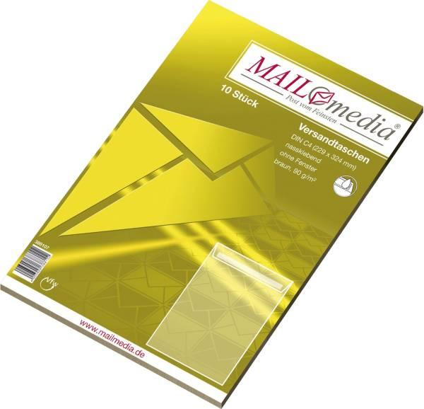 MAILMEDIA Versandtasche C4 gum. 90g braun 30002510
