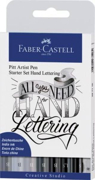 FABER CASTELL Tuschestift 8ST Handlettering sort. 267118 Pitt Artist