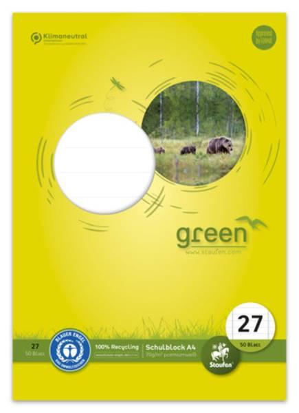 STAUFEN GREEN Schulblock A4 50BL Lin27 040750027 70g
