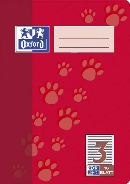 Heft A5 16 Blatt Lineatur 3