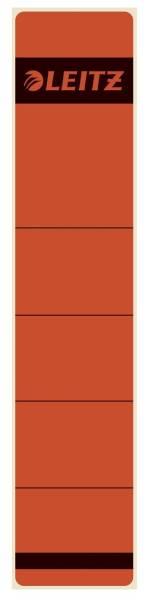 1643 Rückenschilder Papier, kurz schmal, 10 Stück, rot