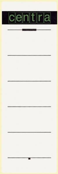 Rückenschild selbstklebend Papier, kurz, breit, 10 Stück, weiß
