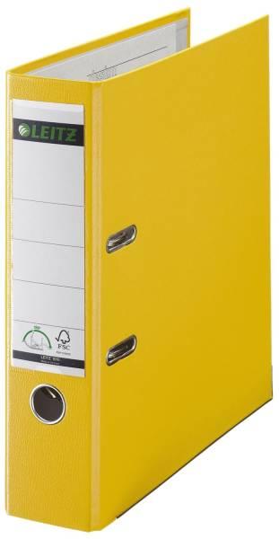 1010 Ordner Plastik A4, 80 mm, gelb