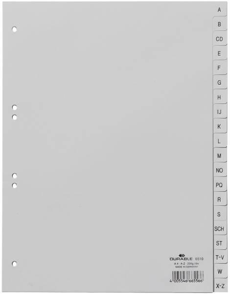 Register A Z, PP, grau, A4, 20 Blatt