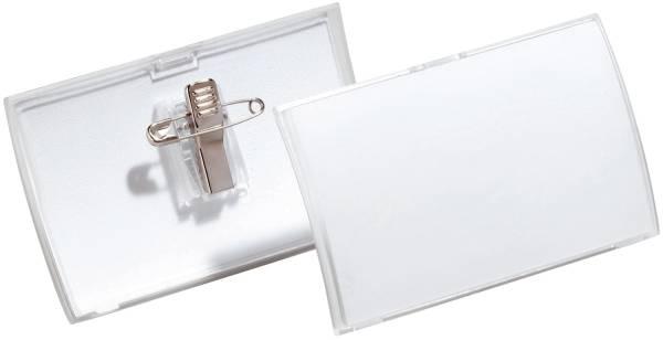 DURABLE Namensschild 25ST 40x75mm transp. 8211 19 Click Fold