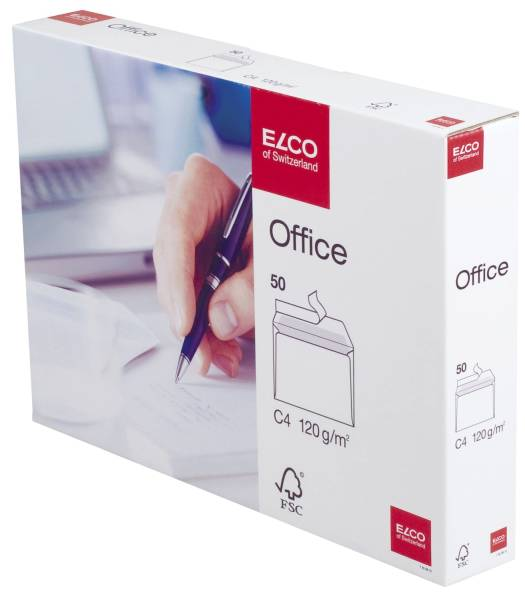 Briefumschlag Office in Shop Box C4, hochweiß, haftklebend, 120 g qmß, 50 Stück