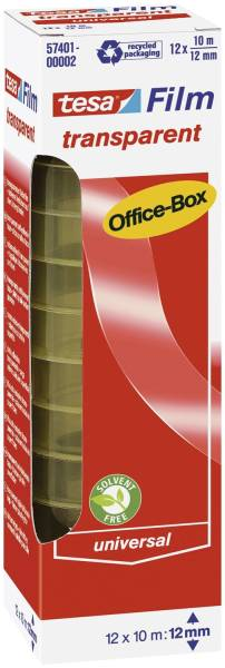 Klebefilm Office Box transparent 12 St , Bandgröße (L x B): 10 m x 12 mm
