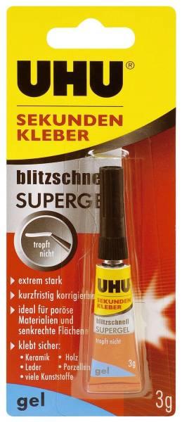 SEKUNDENKLEBER blitzschnell SUPERGEL 3 g