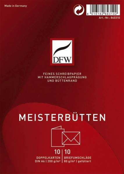 DFW Doppelkarte A6 hoch Meisterbütten DRESDNER 840310 10/10