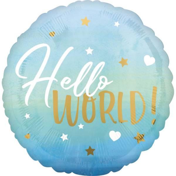 Folienballon Baby Boy blau 973001 Hello World