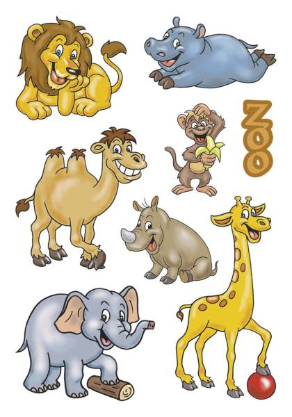 3334 Sticker DECOR Zootiere