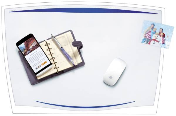 Schreibunterlage Ice Blue 65 x 45 cm, blau transparent