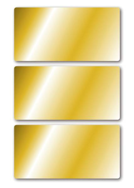 15287 Schmucketikette 34 x 67 mm, 9 Stück, gold