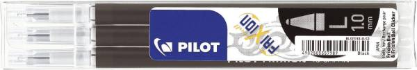 PILOT Tintenrollermine Frixion 0,5mm 3ST schwa BLSFR10-B-S3-E 2259001F