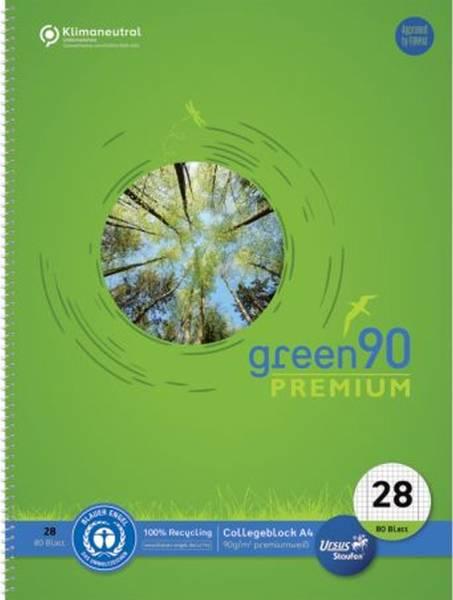 STAUFEN GREEN Collegeblock A4 80BL LIN28 kariert 040835028 90g