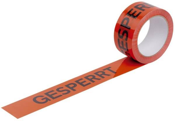 Warndruckbänder, Gesperrt