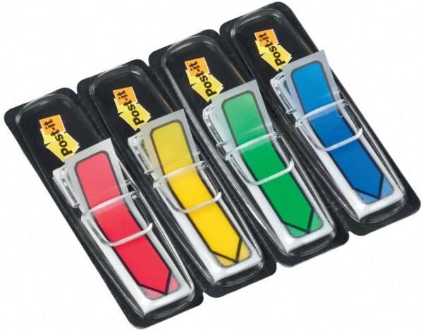 Index Pfeile Typ 684 11,9 x 43,2 mm, Grundfarben: blau, gelb, grün, rot