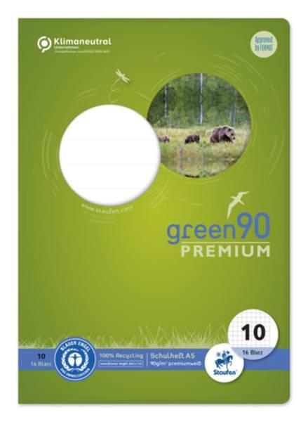 URSUS green Heft LIN10 A5 16 Blatt 5mm kariert 040780010