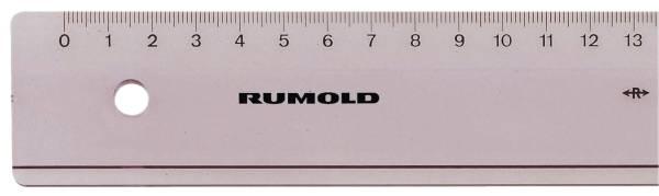 RUMOLD Plastiklineal 20cm transp. FL41 Luran