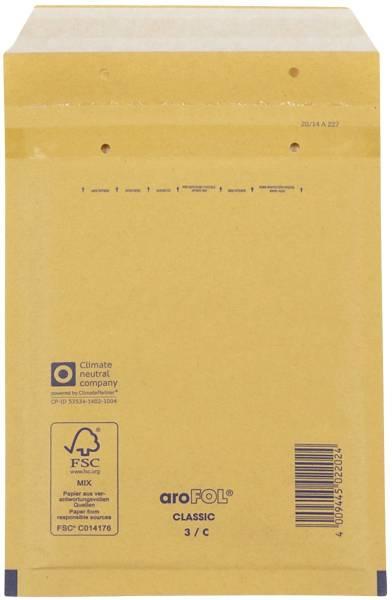 Luftpolstertaschen Nr 3, 150x215 mm, goldgelb braun, 100 Stück