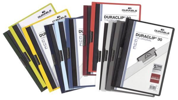 Klemm Mappe DURACLIP 30, DIN A4, farbig sortiert®