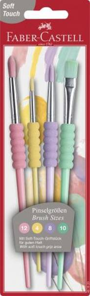 FABER CASTELL Haarpinselset 4ST Pastell sortiert 481620