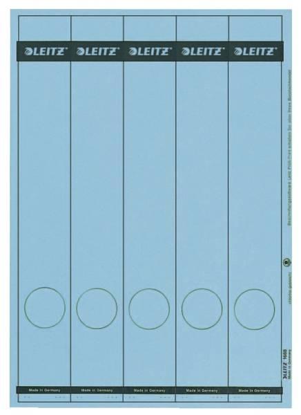1688 PC beschriftbare Rückenschilder Papier, lang schmal, 125 Stück, blau