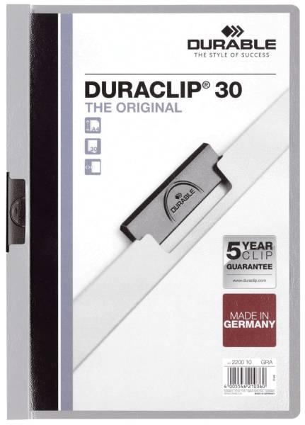 Klemm Mappe DURACLIP 30, DIN A4, grau®