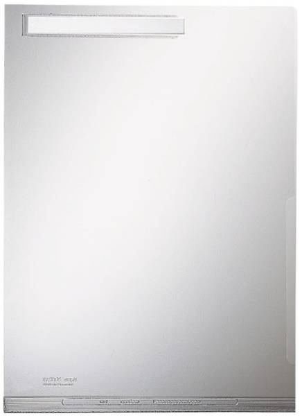 4054 Maxi Sichthülle A4 mit Beschriftungsfenster, genarbt, 0,20 mm, Fenster oben
