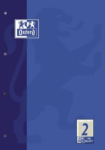 Arbeitsblock Lin 2 A4, 50 Blatt, 90 g qm, 4 fach Lochung