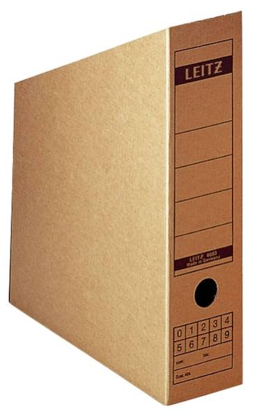 LEITZ Archivbox Wellpappe braun 6083-00-00 32x26,5cm