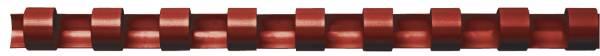 Plastik Binderücken, 8 mm, für 45 Blatt, rot, 100 Stück